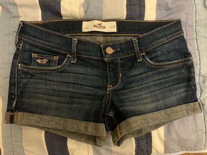 hollister 牛仔褲 短 (25腰)
