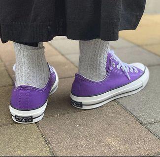 日本正品代購converse japan 100週年黑標紫色低筒筒帆布鞋react鞋墊日本限定oxROYALPURPLE