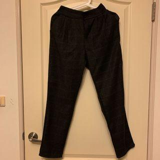 黑格紋老爺褲