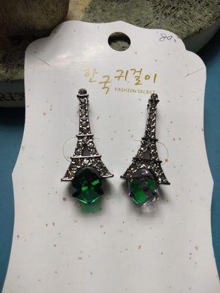 巴黎鐵塔鑲鑽耳環