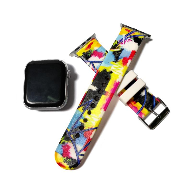 Personalised Name on strap, Personalised Gift, Apple Watch Band TPU Wrist Strap 38mm & 42mm for iWatch Series 1 2 3 4