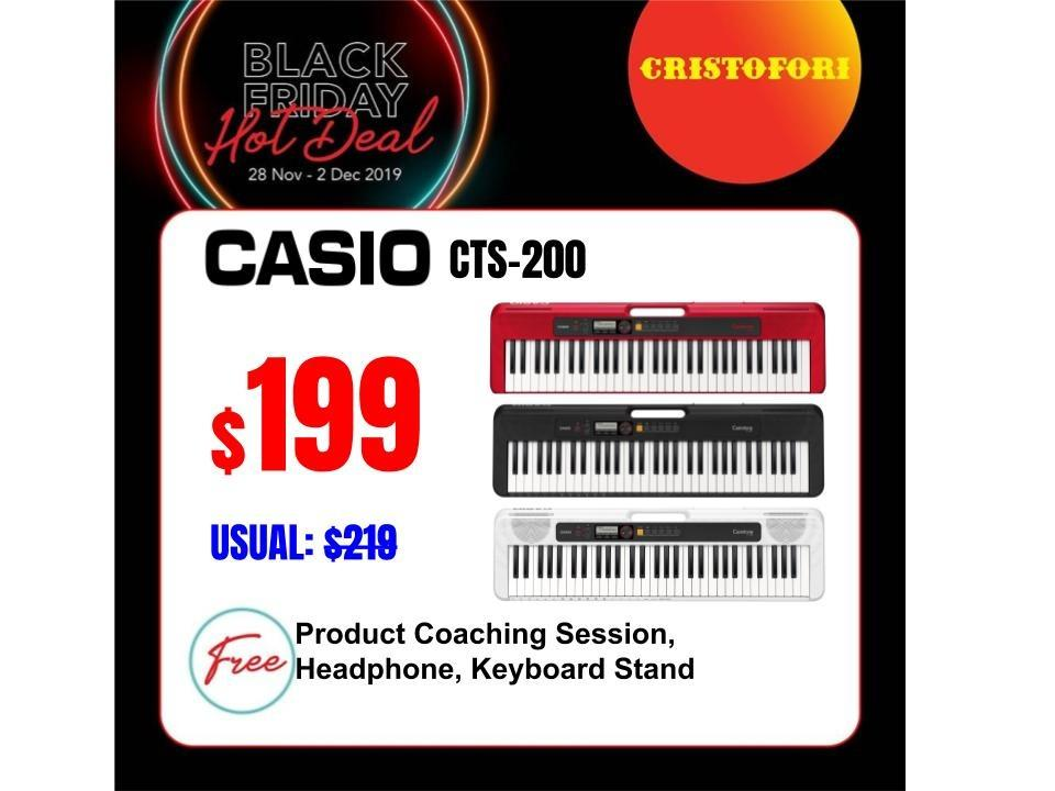 Black Friday SUPER SALES !!!  (NEW MODEL!) CASIOTONE 61-keys $199 Portable Keyboard (Black, Red and White)