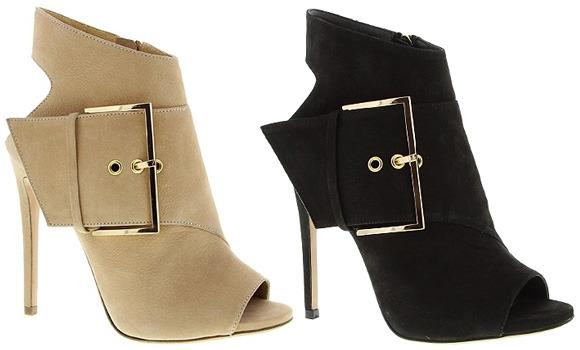Brand New - Tony Bianco - Black Acustic Nuback Peep Toe Ankle Boot