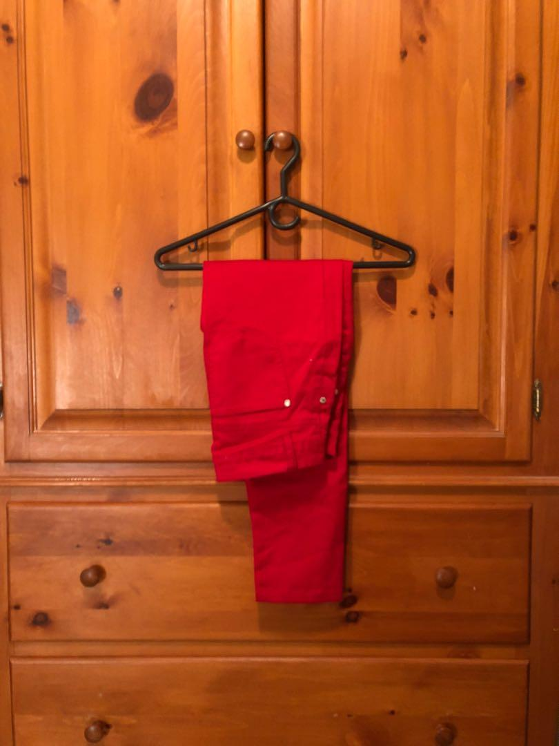 CELEBRITY PINK - red skinny pant, silver hardware (size 5)