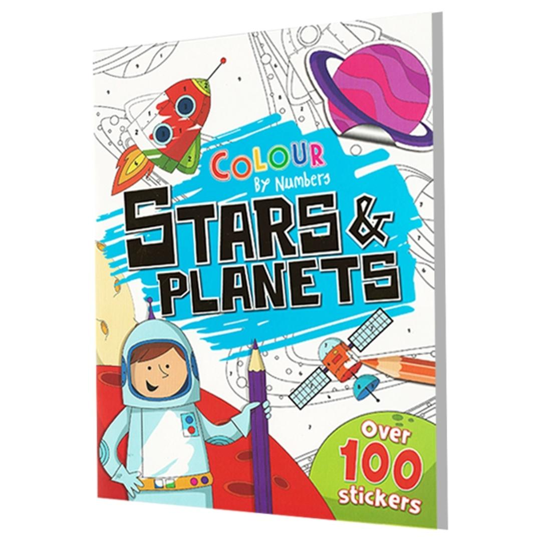 Color By Numbers - Stars & Planets   Children's Book   Activity Book