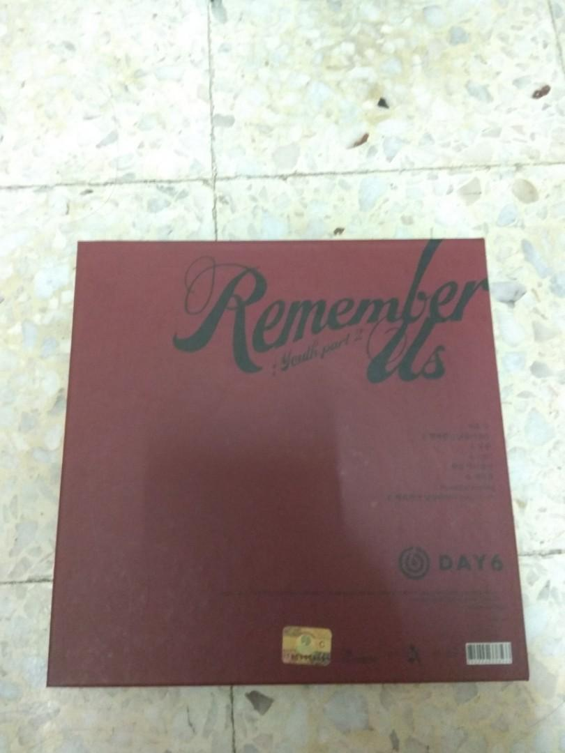 DAY6 Remember Us: Youth Pt. 2 (without postcards/ photocards)