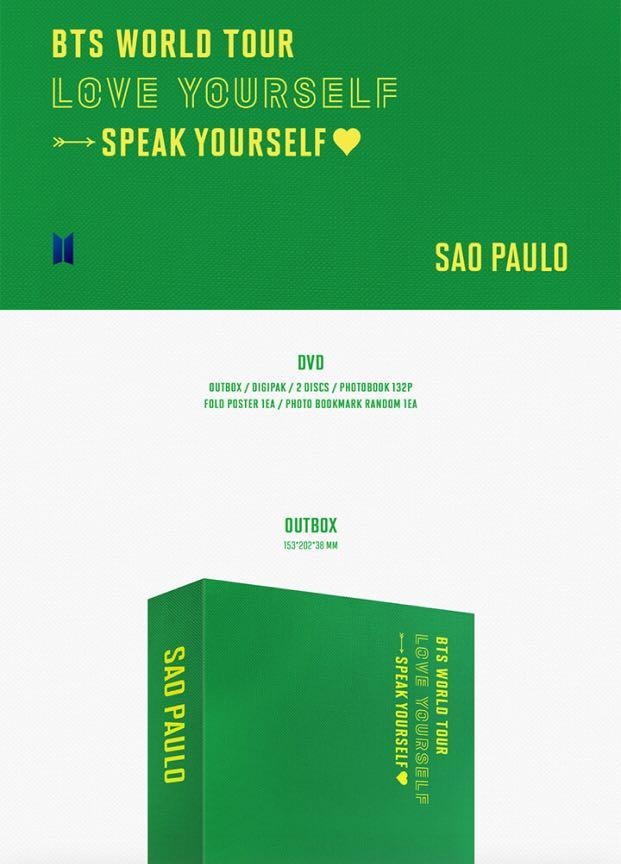 [🇲🇾GROUP ORDER] BTS WORLD TOUR 'LOVE YOURSELF: SPEAK YOURSELF' SAO PAULO DVD