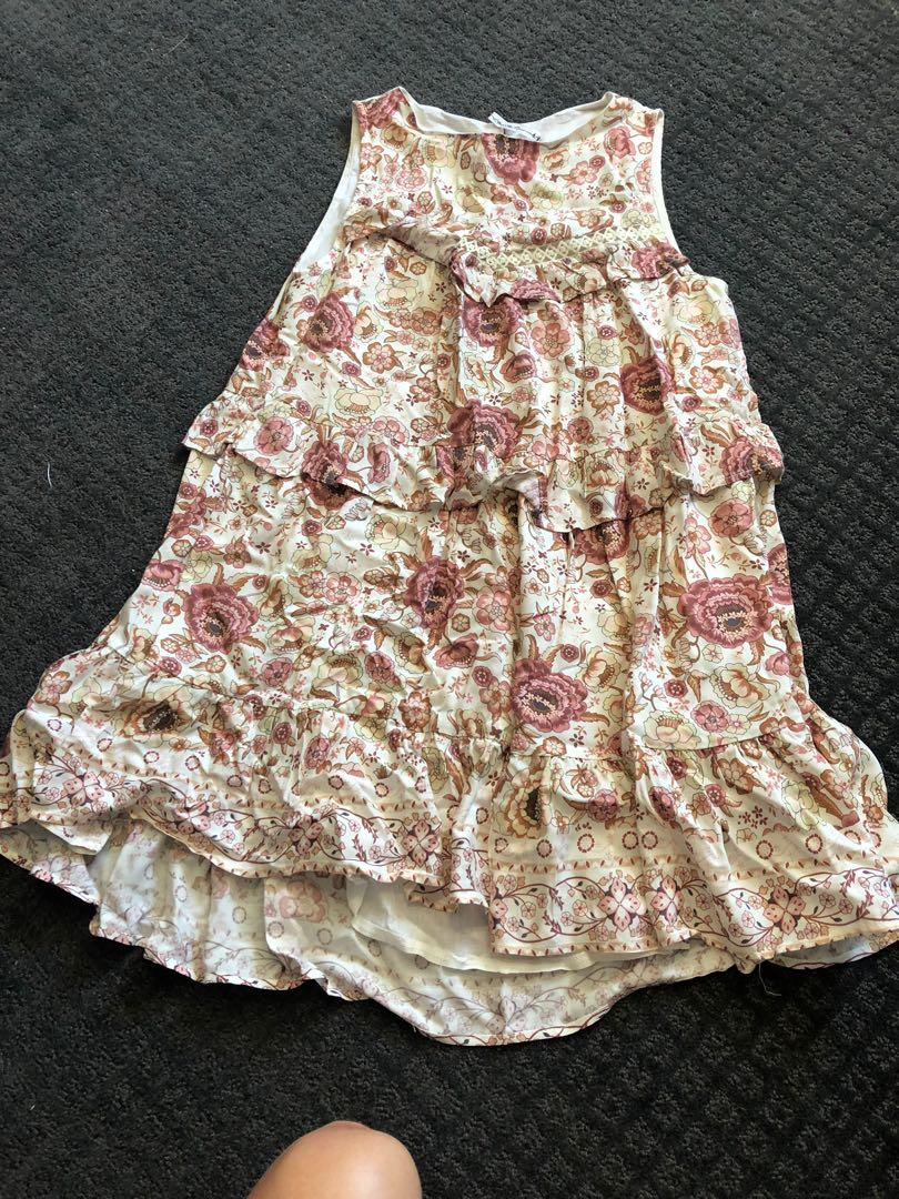 Gypsy rayon floral frill dress similar to spell size xs 6
