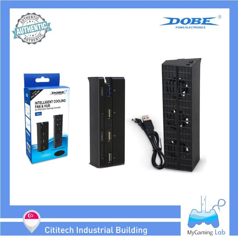 [IN-STOCK]⭐️Wholesale Price⭐️DOBE PS4 Slim Temperature Controlled Cooling Fan & USB Hub Kit Set