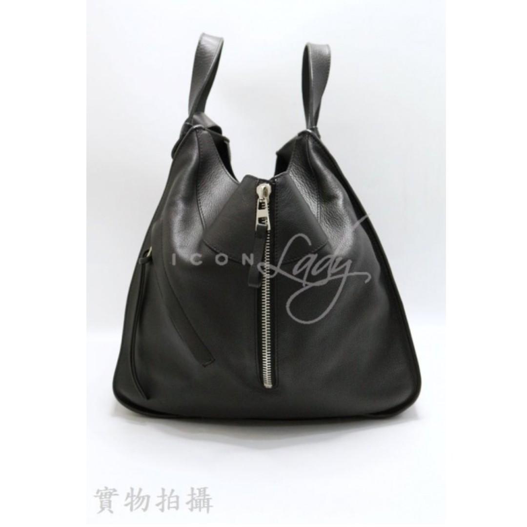 LOEWE Hammock 黑色皮革 中型手袋 手挽袋 肩背袋 手袋