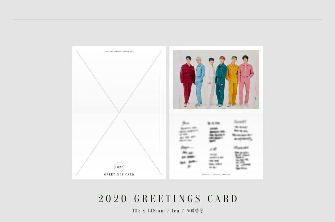 [LOOSE ITEMS & PRE-ORDER] 2020 MONSTA X SEASON'S GREETINGS EVERY 'MON'TH 2020 GREETINGS CARD
