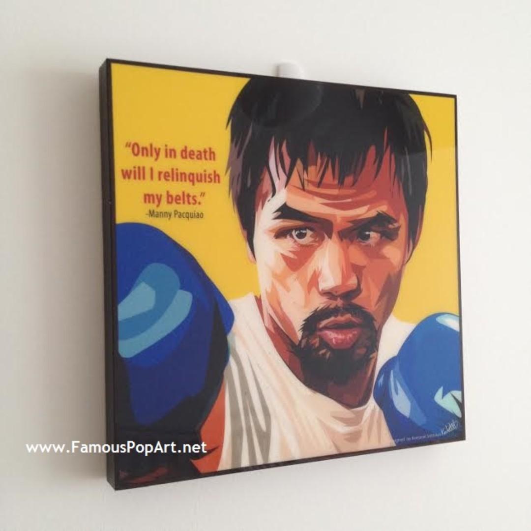 Manny Pacquiao Floyd Mayweather PopArt! Portrait Pop Art