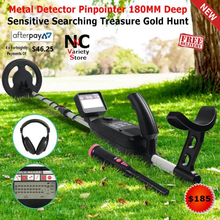 Metal Detector W/Pinpointer Searching Treasure Gold Digger Hunter 250mm
