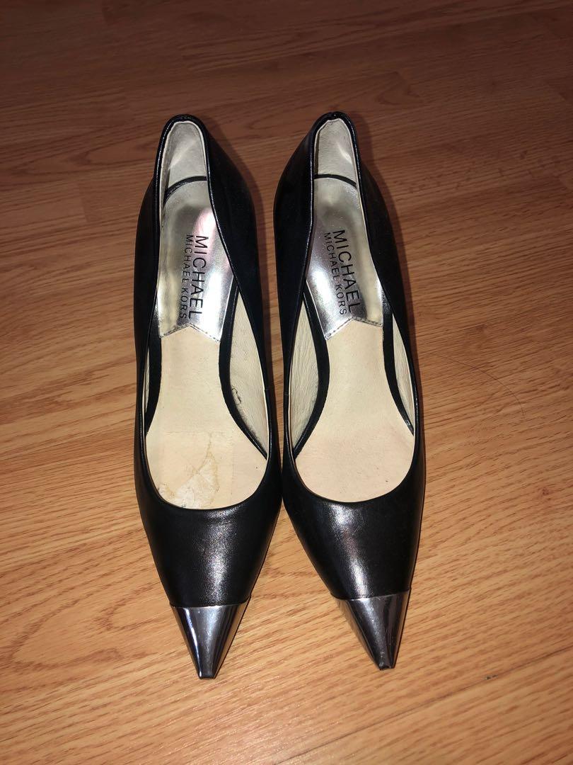 Michael Kors Black heels with metal toe (Size 5 US)