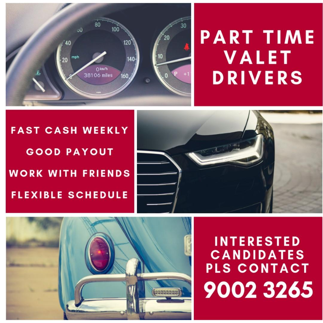 PART TIME VALET DRIVERS FOR 31ST DECEMBER (NEW YEAR EVE)