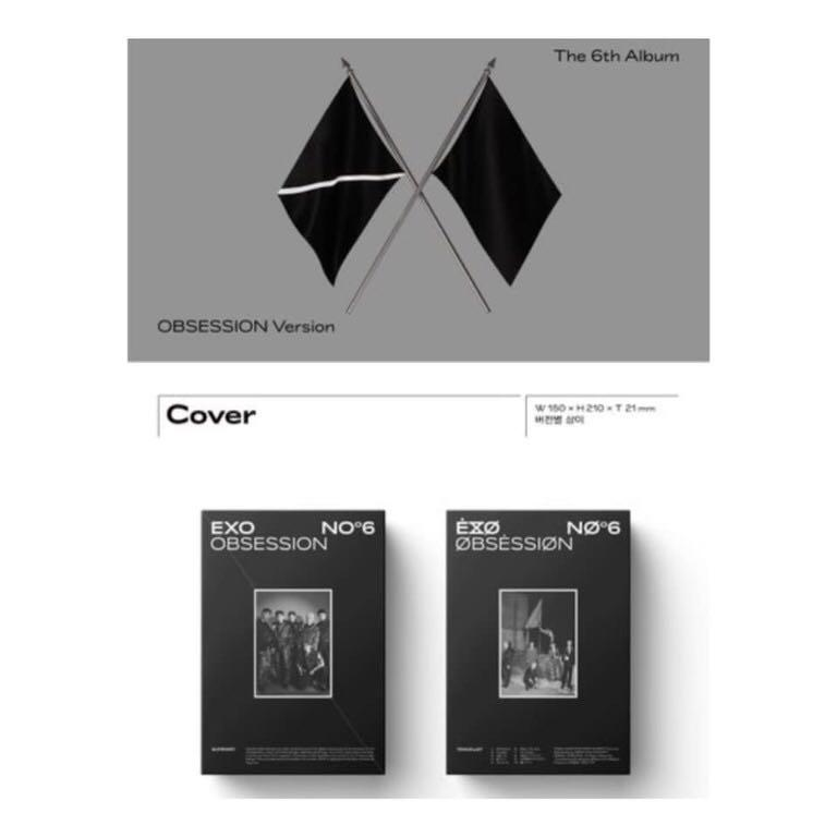 [Pre-order] EXO 엑소 (6TH ALBUM 6집) - OBSESSION (OBSESSION ver.)