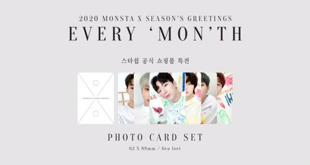 [REPOST] [LOOSE ITEMS / FULL SET] Monsta X 2020 Season's Greetings