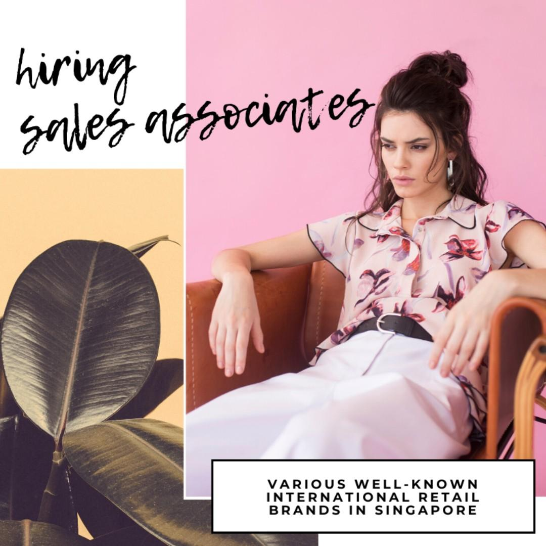 Retail Associates - Various Intl Brands (Up to $2400+Comms)