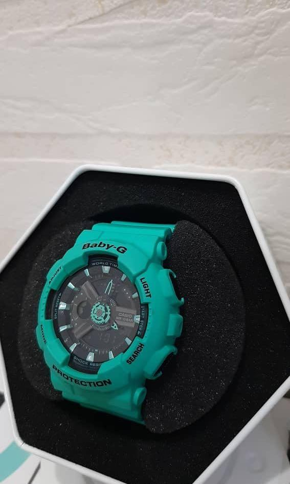 SUPER SAVINGS! Watches up for sale!    Original & NEW: Casio Baby-G - Turquoise & Black