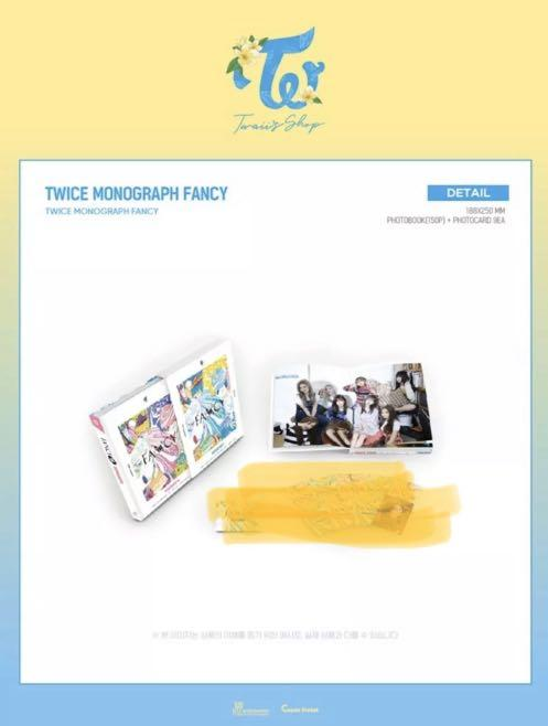 TWICE FANCY YOU MONOGRAPH - 150 Pages Photo Book (NO Photo Cards)