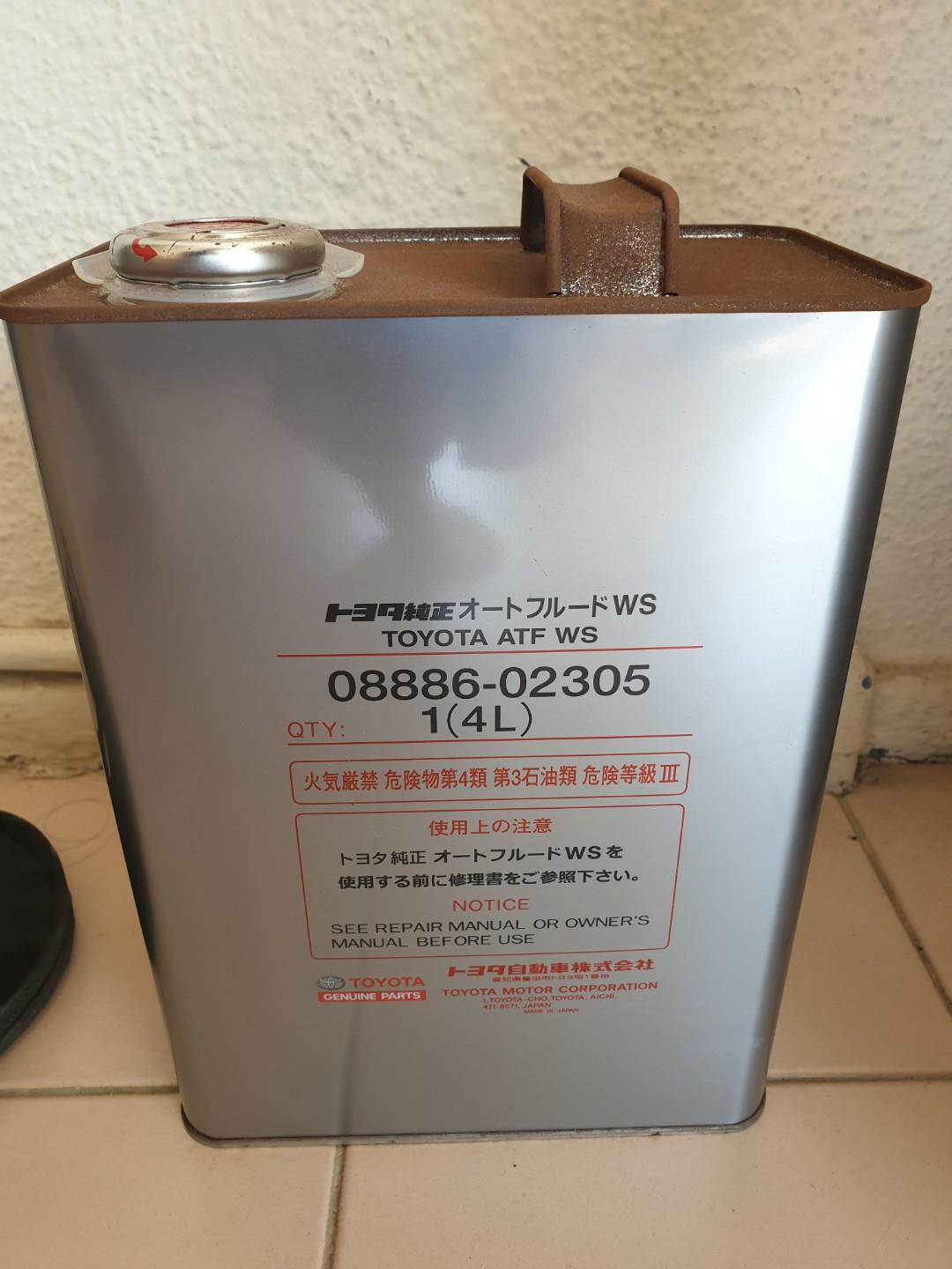 (TWO TINS AVAILABLE!) TOYOTA Type WS Transmission Fluid
