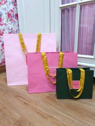 Paper Bag kate spade 2019 size M ( pink tua)