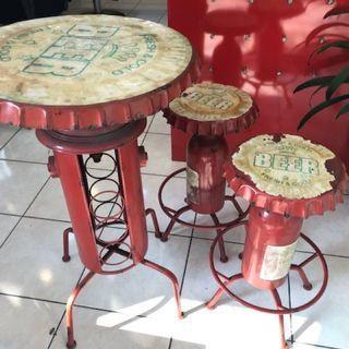 復古瓶蓋桌椅