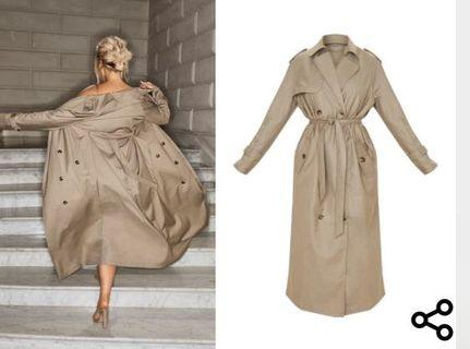 PLT Maxi Belted Trench Coat