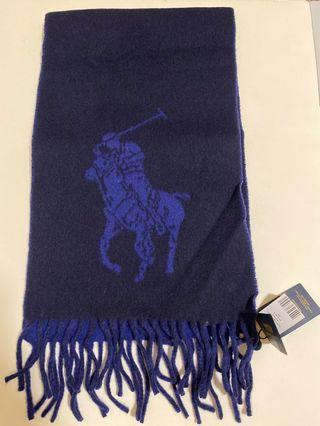 POLO RALPH LAUREN 義大利廠製 雙面經典大馬圍巾