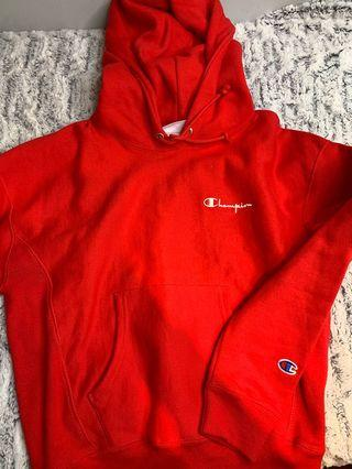 Champion red hoodie