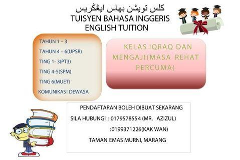 Tuisyen Bahasa Inggeris Bandar Marang, Terengganu