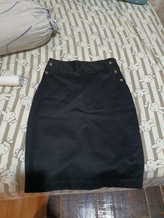 The Executive Black Skirt Rok Sepan hitam