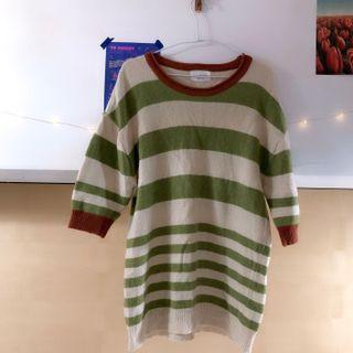 奇異果🥝配色毛衣