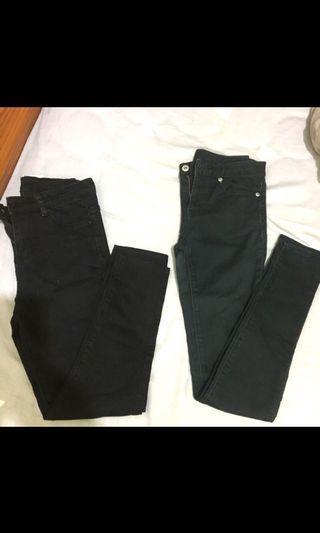 購於日本GU 黑色長褲👖S號