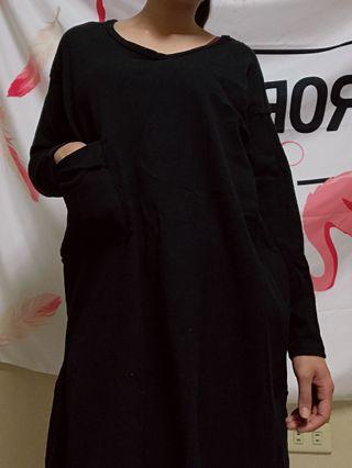 寬鬆長袖T(黑色)