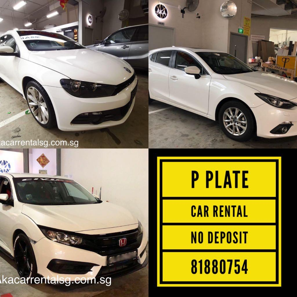 81880754 p plate car rental with no deposit