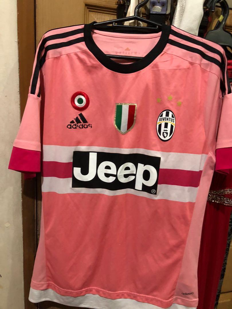 Adidas X Jeep Juventus Jersey Pink Drake Men S Fashion Clothes Tops On Carousell