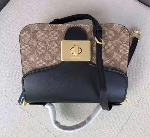 Authentic Coach women Cassidy crossbody women handbag monogram signature logo jkkk