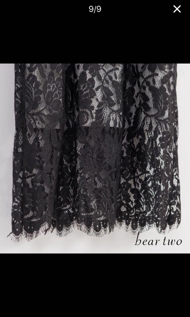 Bear two 七分袖蕾絲洋裝