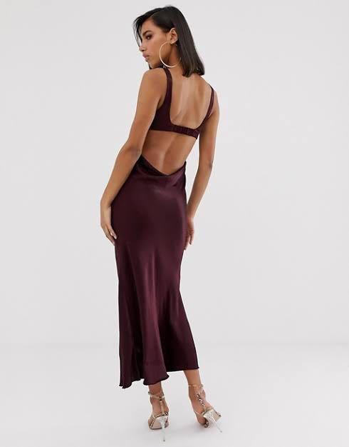 Bec and Bridge Caroline Cut Out Dress in Plum Size 8-10