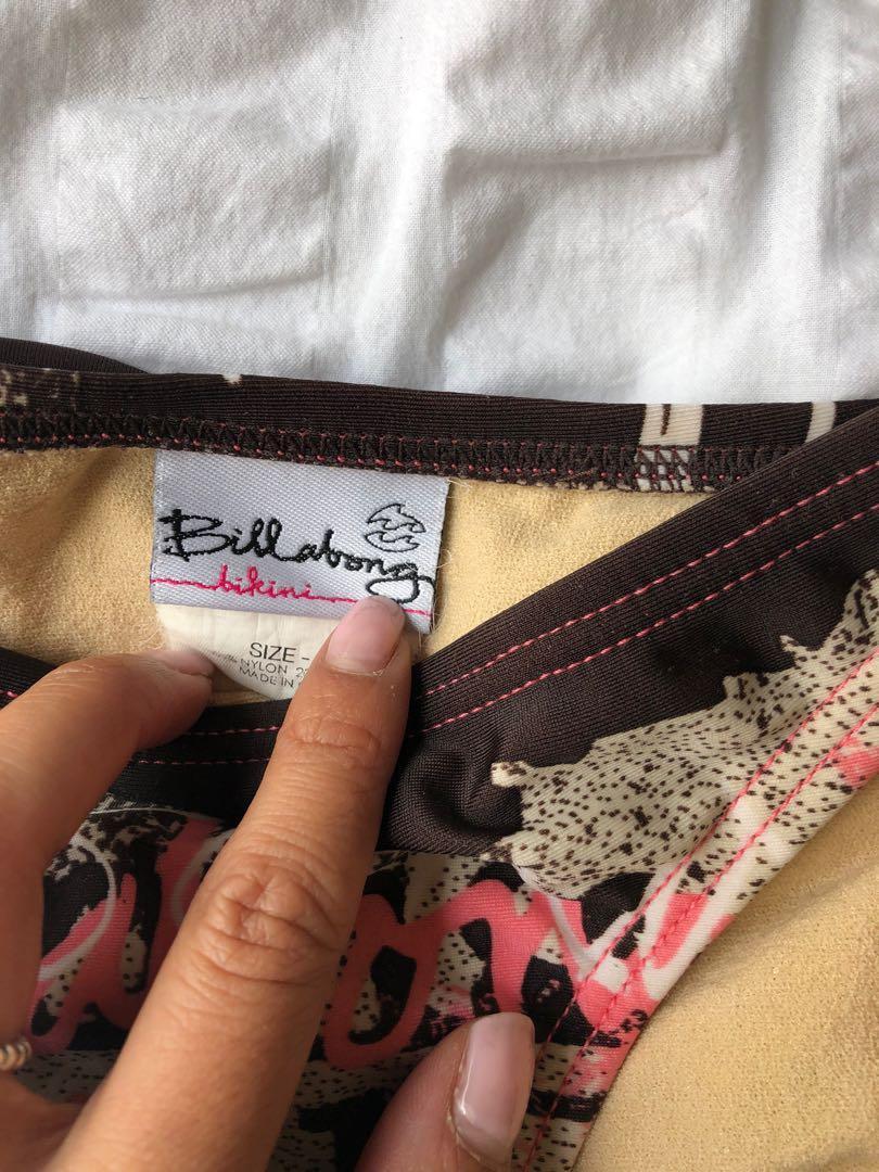 Billabong graffiti bikini set - Brown/pink - size 8