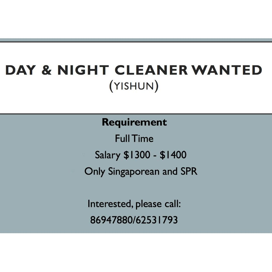 Day & Night Shift Cleaner Wanted