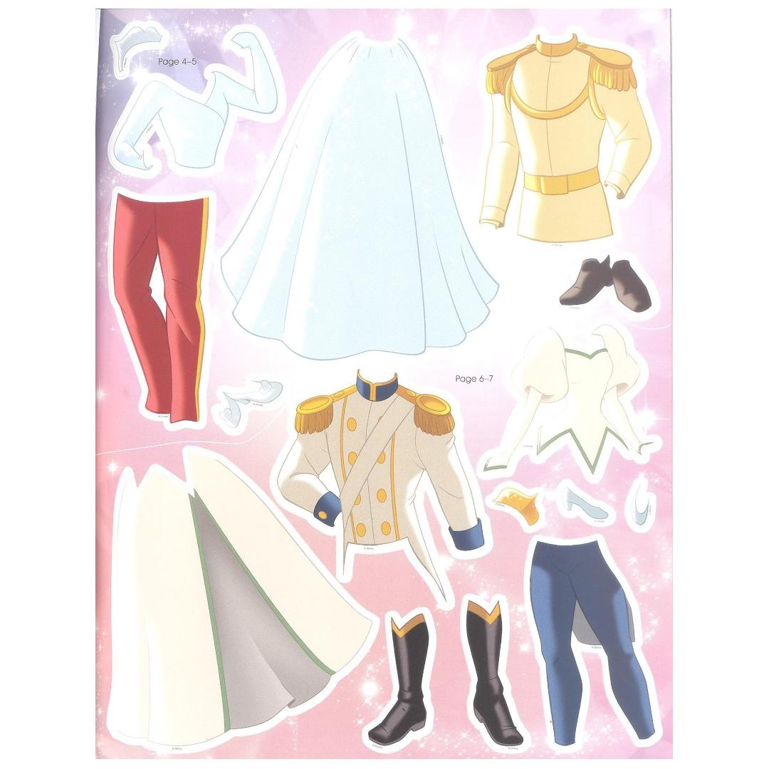 Disney Princess Royal Wedding Sticker Dress Up | English | Sticker Book | Children's Book