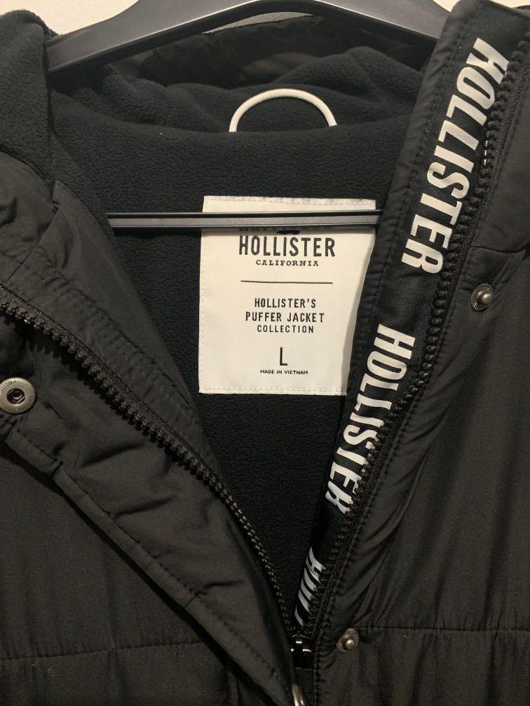 Hollister Women's Black Longline Puffer Jacket - Sz L