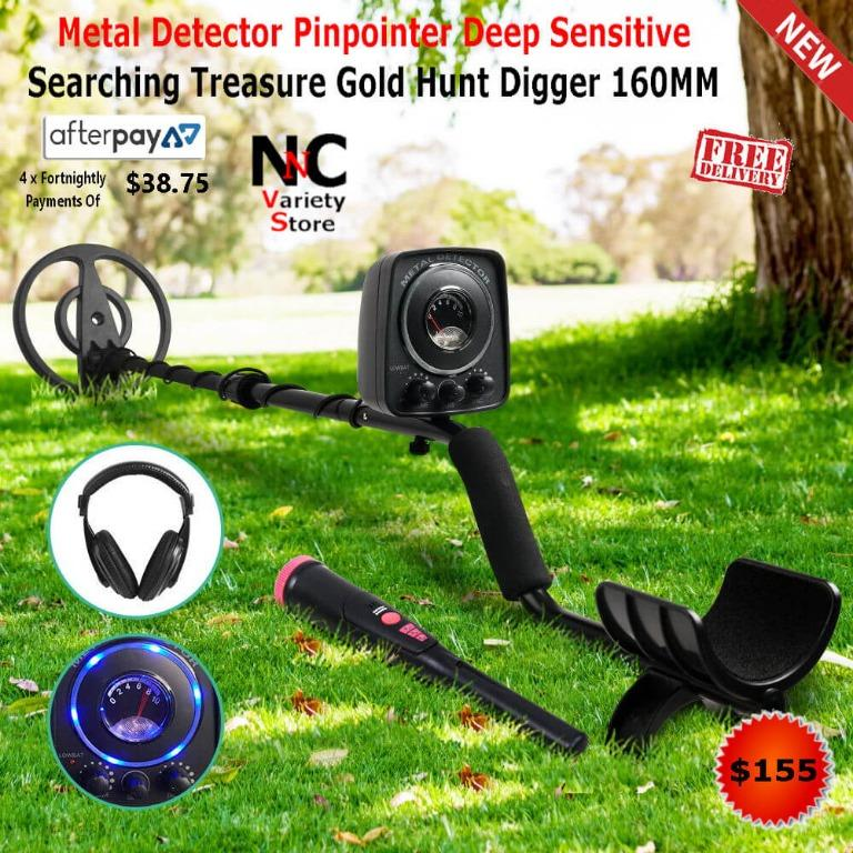 Metal Detector Pinpointer Deep Sensitive Searching Treasure Gold Hunt Digger 160MM