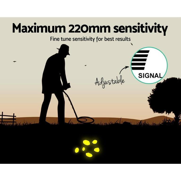 Metal Detector Pinpointer Deep Sensitive Searching Treasure Gold Hunt Digger 220MM