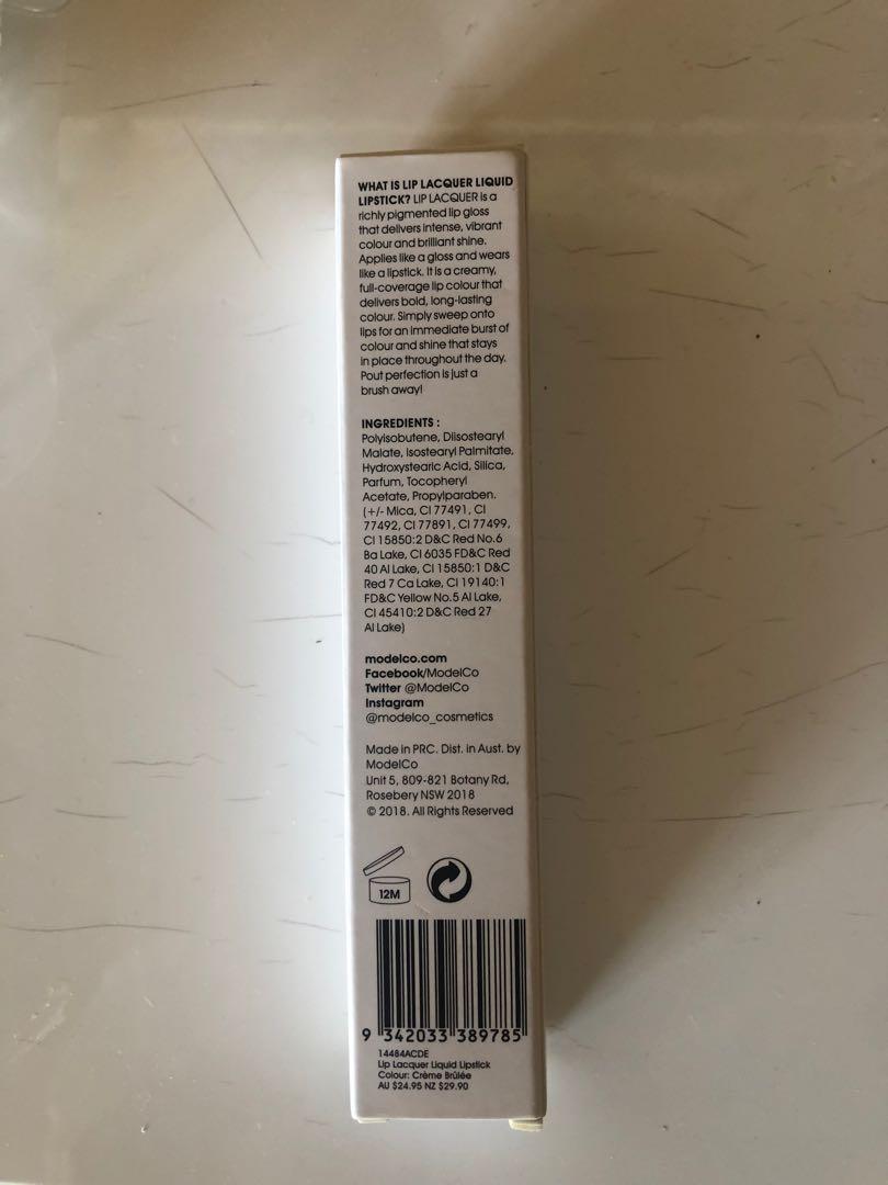 Model co lip lacquer creme brûlée 5ml liquid lipstick