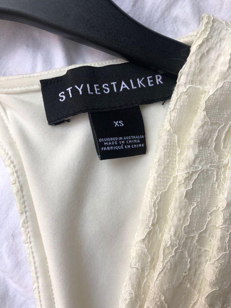 Stylestalker Mustang cut out mini - White lace - XS
