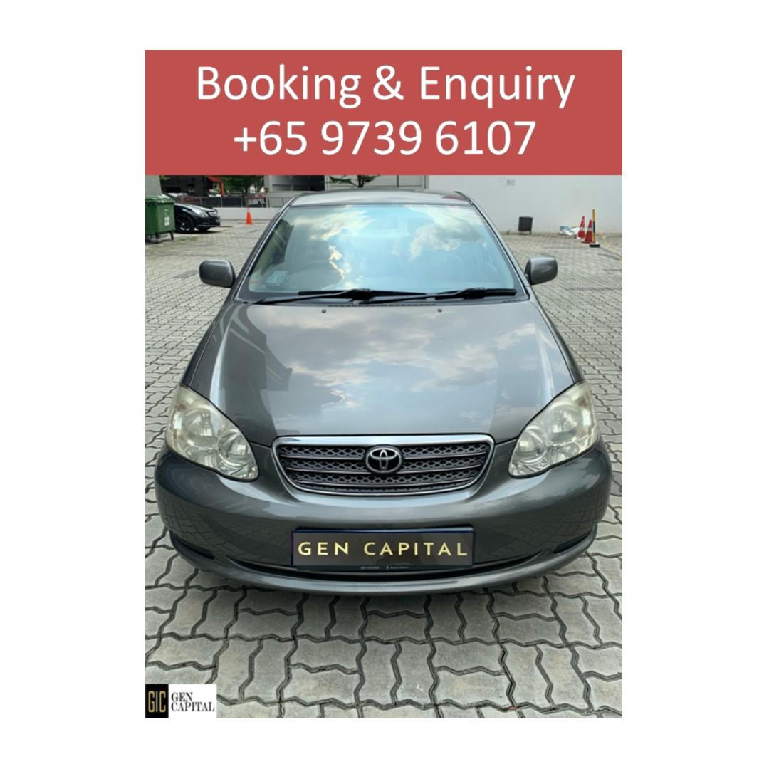 Toyota Altis - Lowest rental rates, with the friendliest service! @97396107