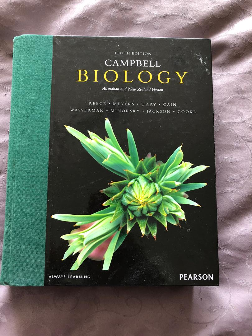 UoA textbooks: Anatomy & Physiology and Campbell's Biology